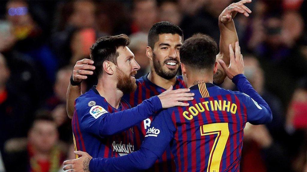 برشلونة يفوز على ايبار في ختام الدور الاول من الدوري الاسباني