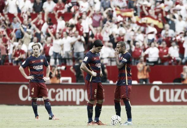 Liga, il Barça cade a Siviglia. Finisce 2-1 al Sanchez Pizjuan