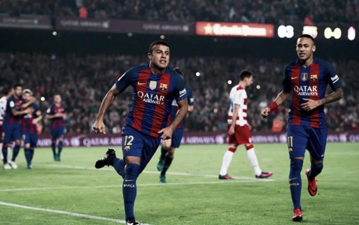 Sem brilho e com dificuldade, Barcelona vence Granada com gol solitário de Rafinha