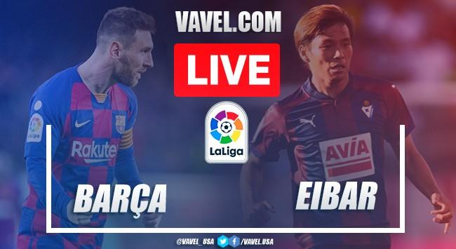 Goals and Highlights: Barcelona 5-0 Eibar in 2020 La Liga
