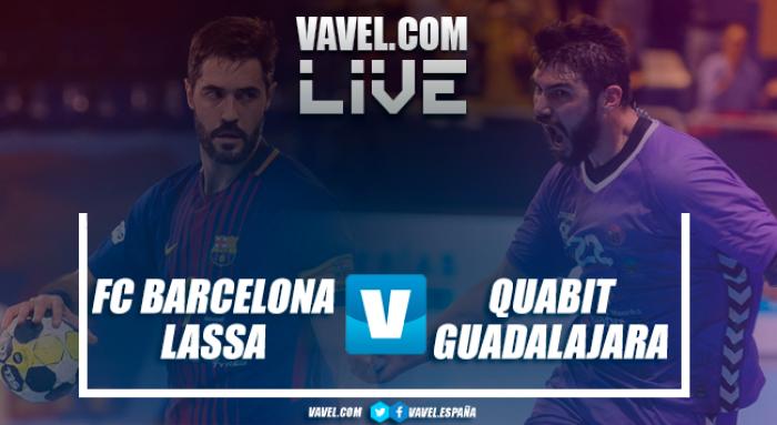 Resumen Barcelona Lassa 36-22 Quabit Guadalajara por semifinales de la Copa ASOBAL 2017