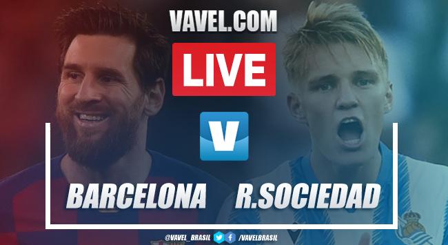 Gols e melhores momentos de Barcelona x Real Sociedad pelo Campeonato Espanhol (1-0)