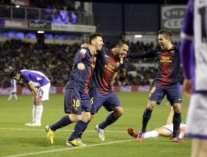 Real Valladolid 1 - Barcelona 3: el Barça duerme al Valladolid