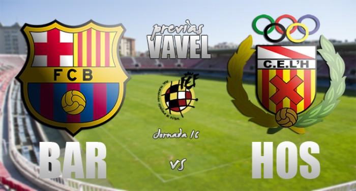 FC Barcelona B - CE L'Hospitalet: el filial quiere mantener el liderato una jornada más