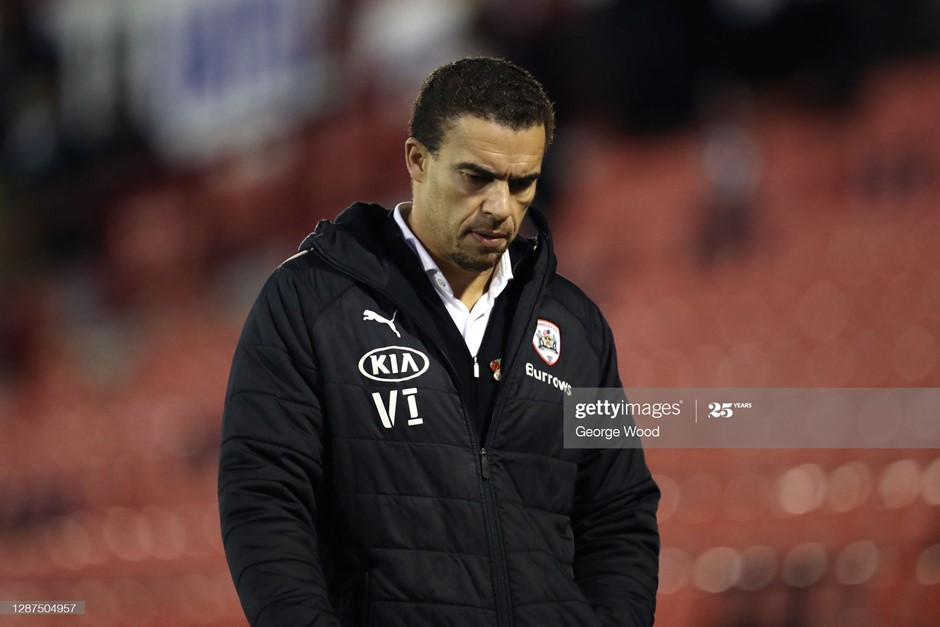 Barnsley's Valerien Ismael looks on during his side's defeat to Brentford. Photo: George Wood/Getty Images.