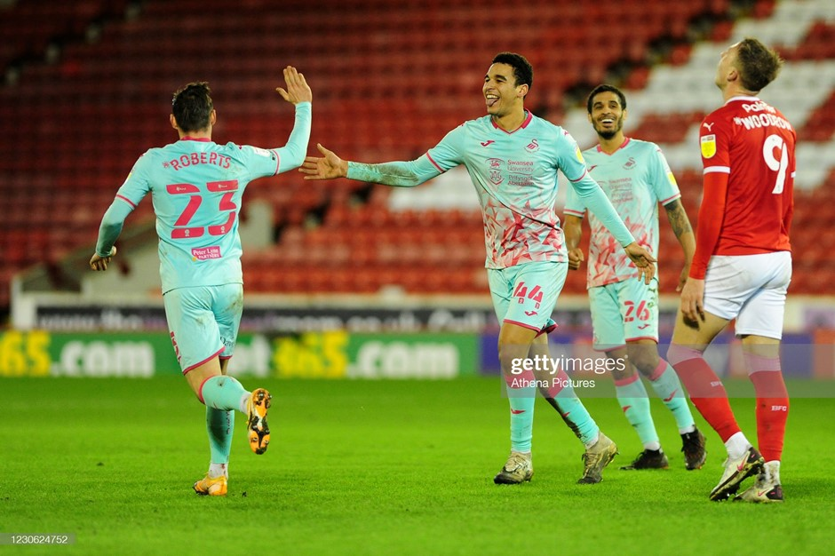 Barnsley 0-2 Swansea City: Clinical Swans keep pace with leaders