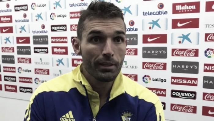 """David Barral: """"La victoria, nos ayuda a ser el Cádiz que queremos""""."""