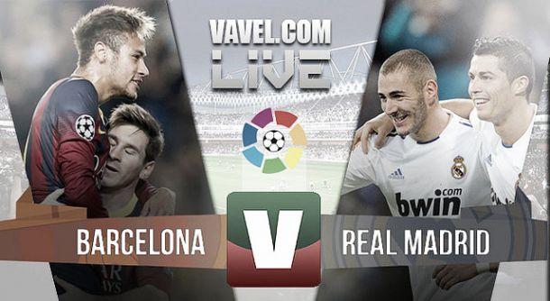 Resultado FC Barcelona - Real Madrid  na Liga BBVA (2-1)