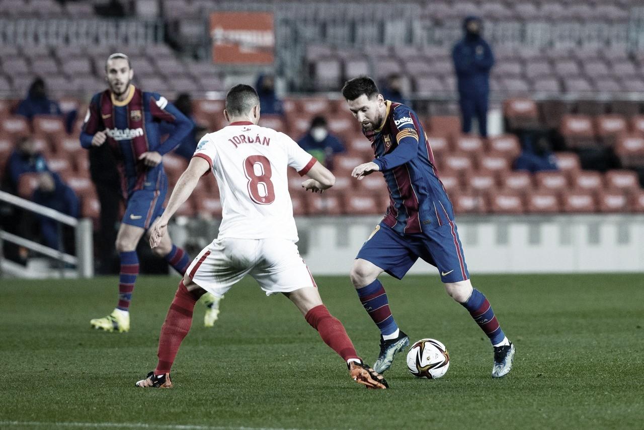 Com direito à prorrogação, Barcelona reverte vantagem do Sevilla e vai à final da Copa do Rei