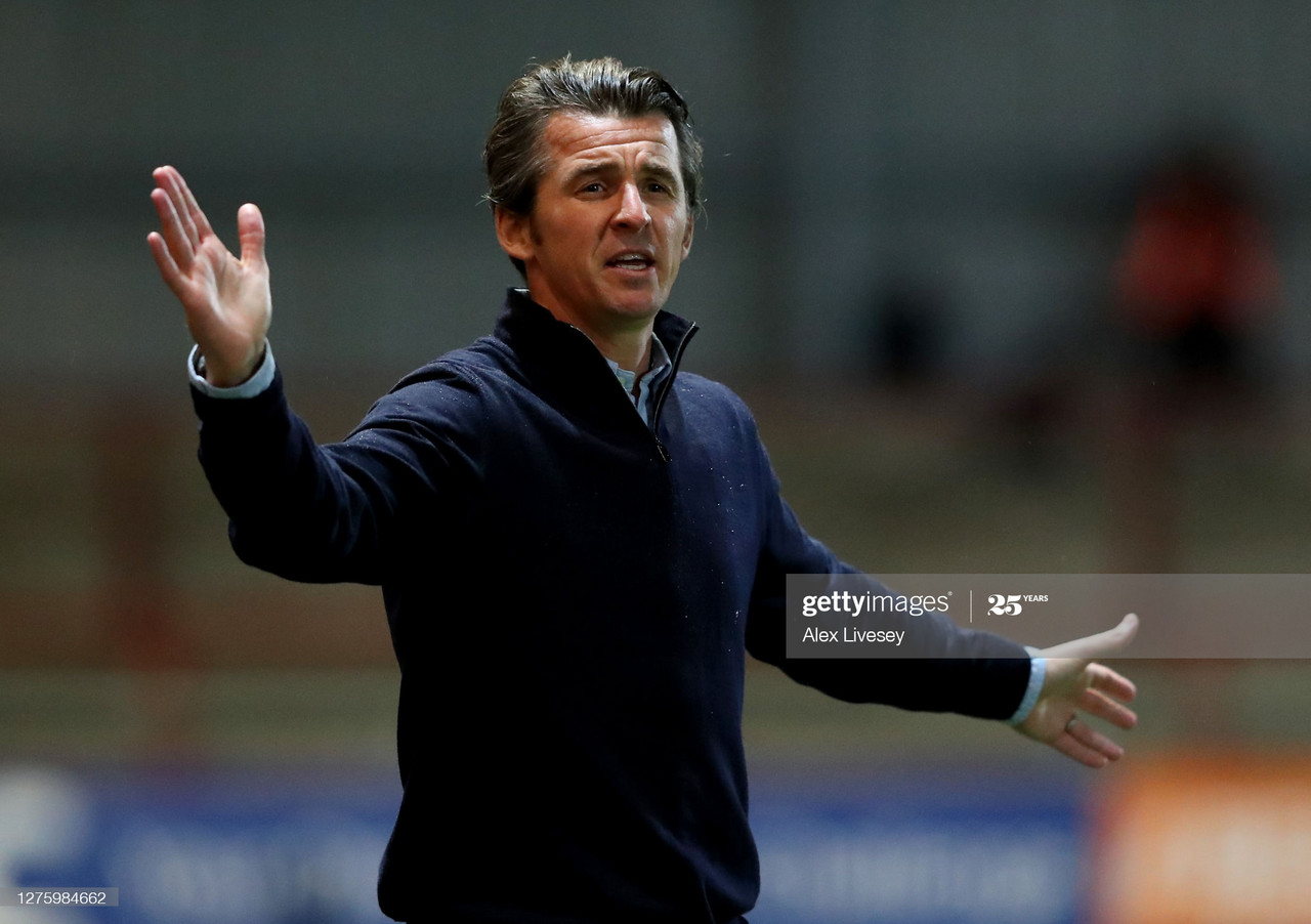 Joey Barton will take his Fleetwood side to Gillingham on Saturday | Photo by Alex Livesey - GettyImages
