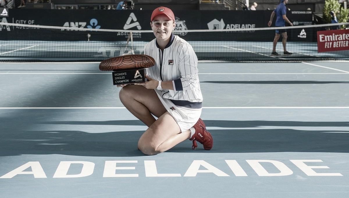 Barty derrota Yastremska e é campeã do WTA Premier de Adelaide