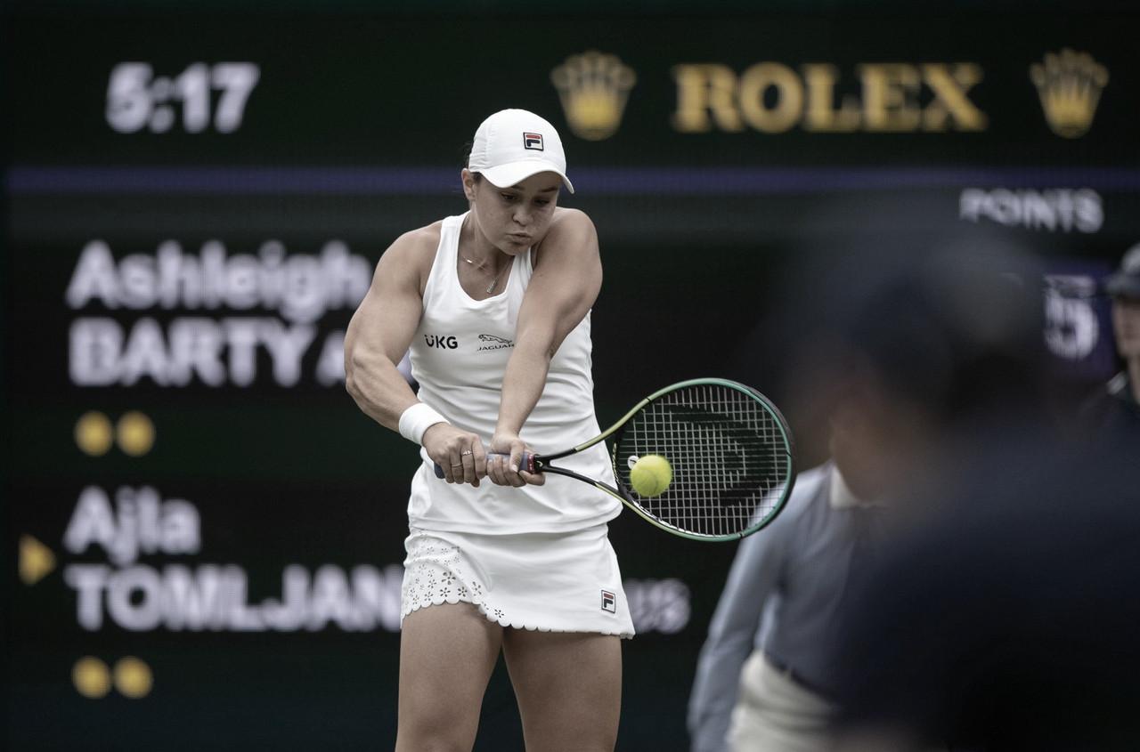 Em confronto australiano, Barty superaTomljanovic e é semifinalista de Wimbledon