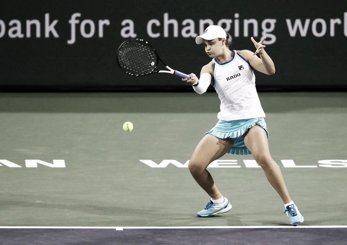 Barty domina Brady e está na quarta rodada do WTA de Indian Wells