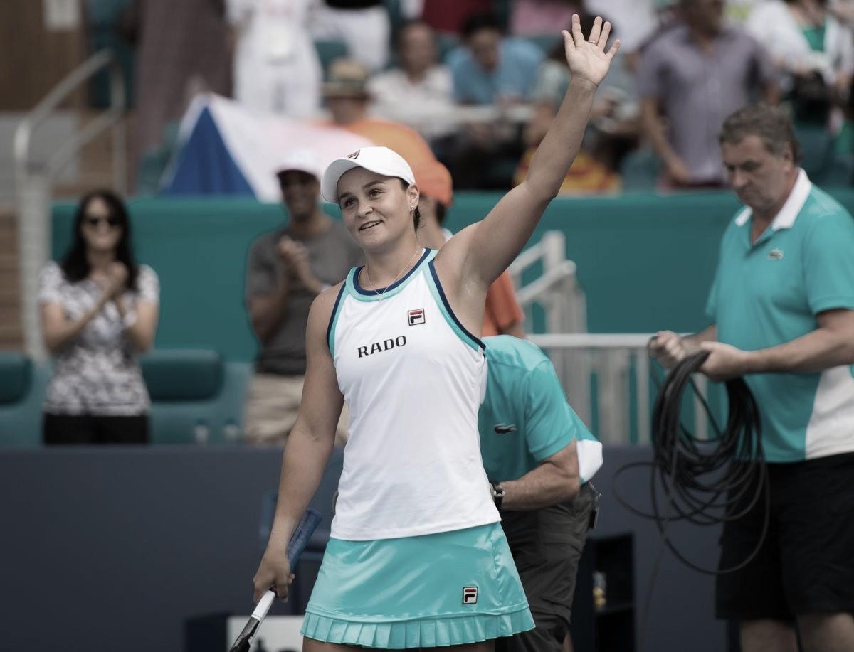 Barty faz exibição perfeita, supera Pliskova e fica com título de Miami