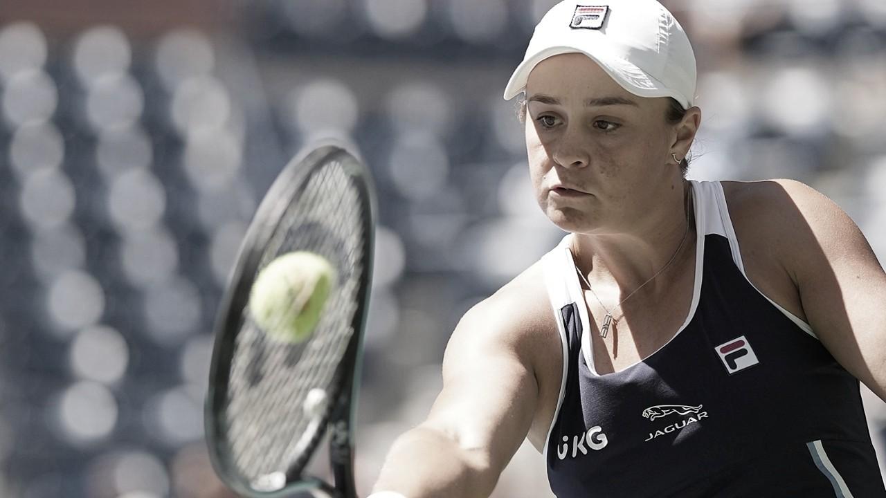 Barty se enrola no segundo set, mas supera Tauson e segue no US Open
