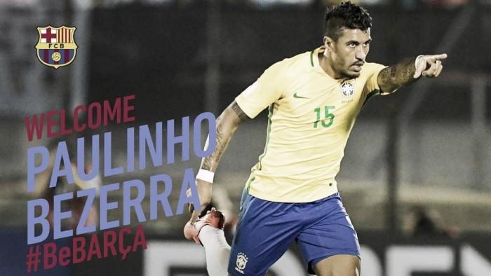 Paulinho é oficializado como reforço do Barcelona e recebe apoio de Neymar