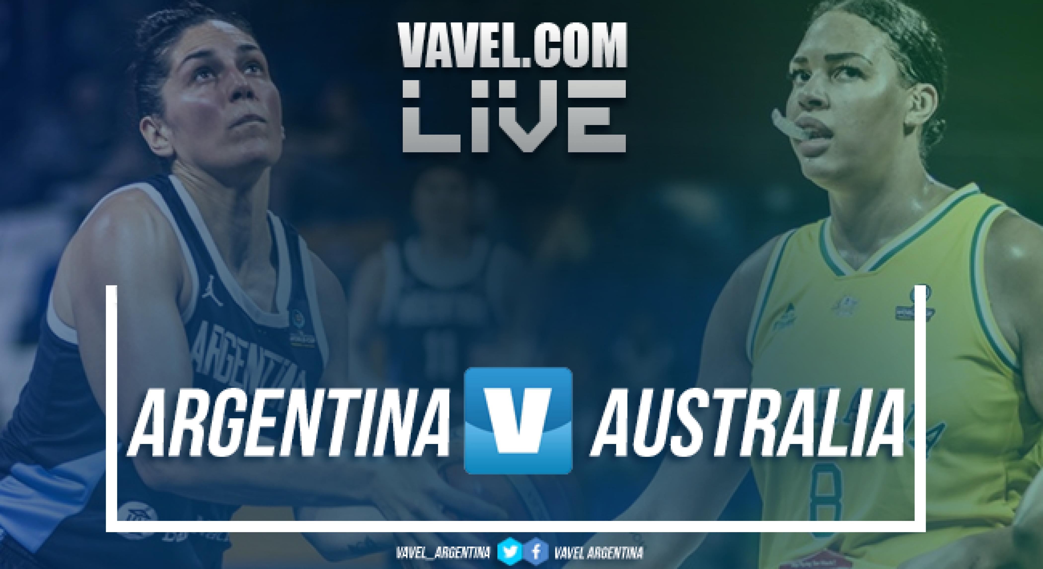 Resumen Argentina 43-84 Australia por el Mundial de España 2018