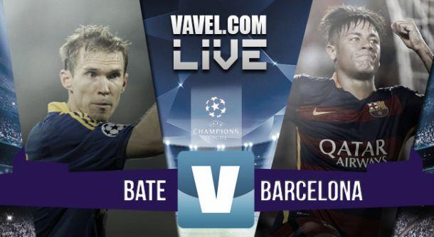 Live Bate Borisov - Barcellona in risultato Champions League 2015/2016 (0-2)