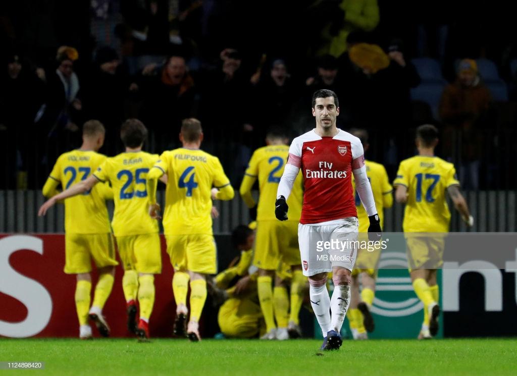 BATE Borisov 1-0 Arsenal: Gunners suffer first-leg defeat on embarrassingEuropean night