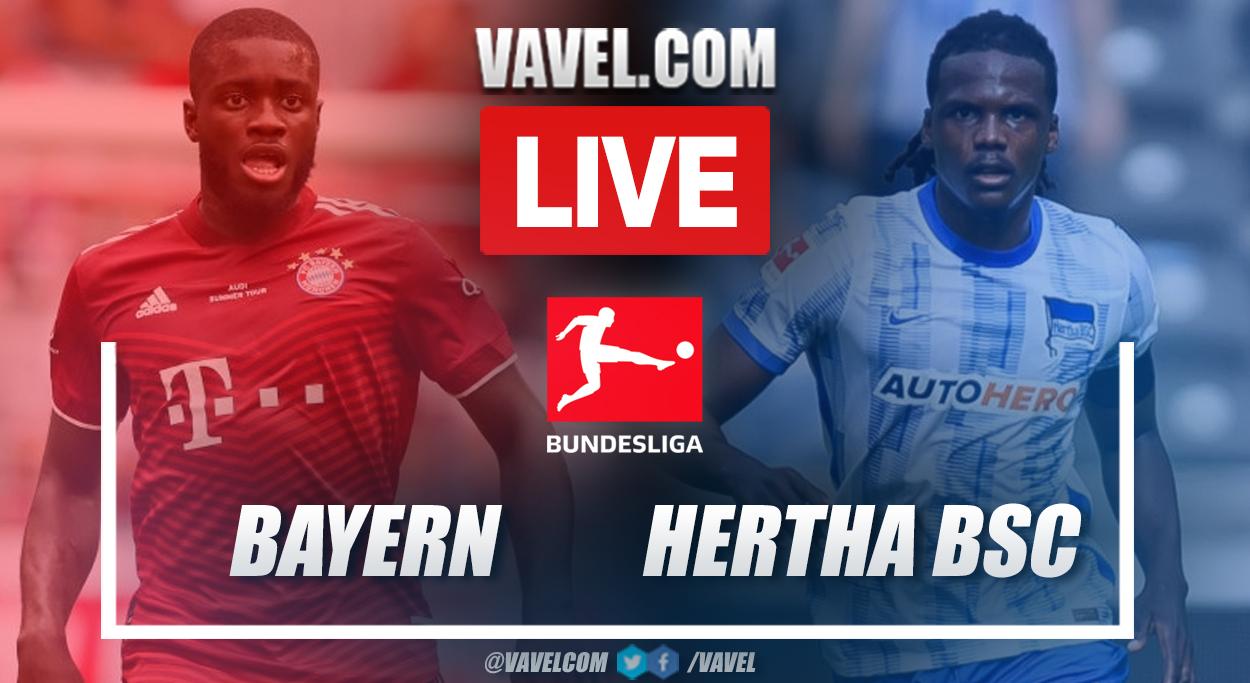 Highlights and goals: Bayern Munich 5-0 Hertha BSC in Bundesliga 2021-22
