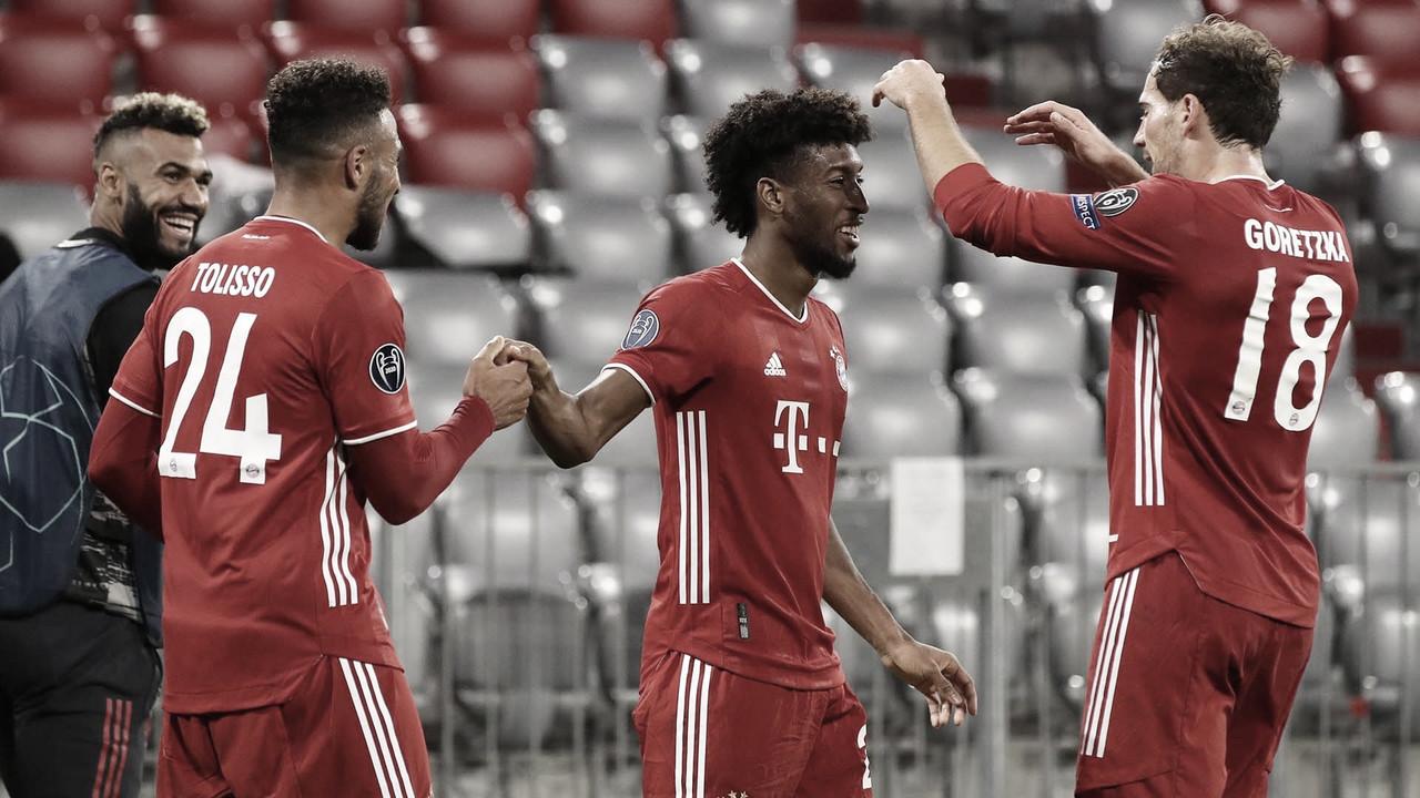 Tolisso y Goretzka en imagen, ausentes para el partido frente al Atleti. Foto: Web Bayern FC