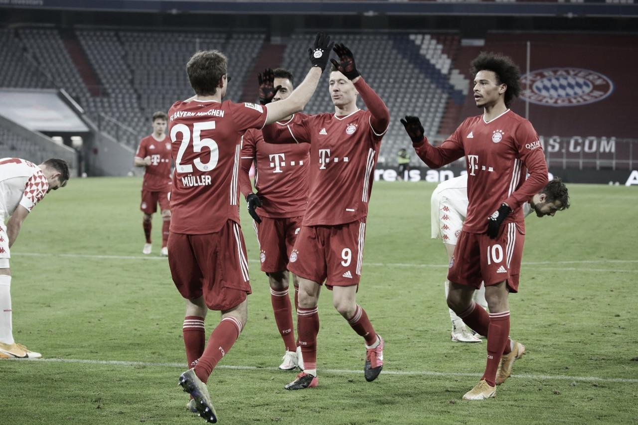 Bayern leva susto, mas goleia Mainz e chega a 20 jogos de invencibilidade