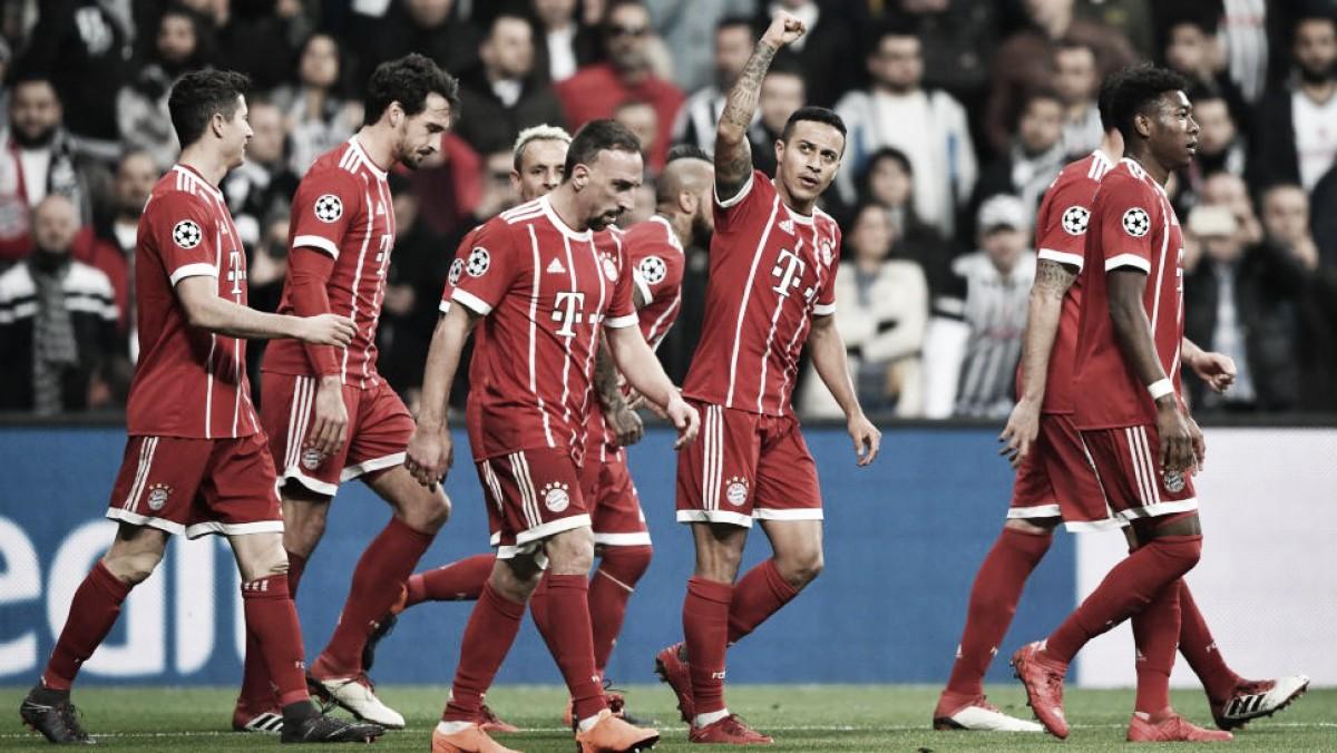 Com tranquilidade, Bayern volta a superar Besiktas e avança às quartas da Champions League