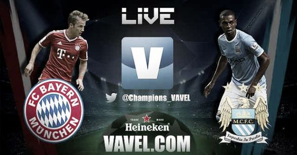 Resultado Bayern de Múnich - Manchester City en la Champions League 2013 (2-3)