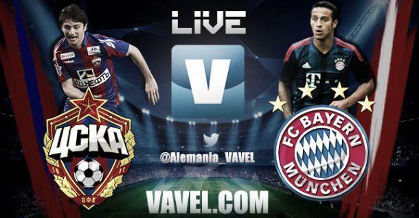 Resultado Bayern de Múnich - CSKA Moscú en la Champions League 2014 (3-0)