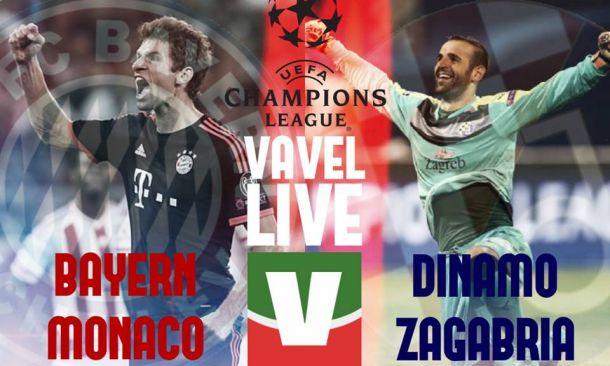 Live Bayern Monaco - Dinamo Zagabria, risultato partita Champions League 2015/16  (5-0)