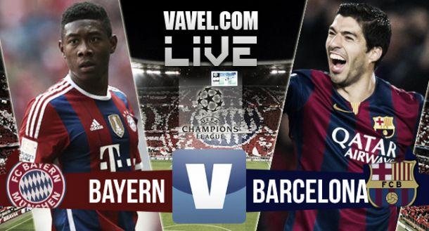 Score Bayern Munich - Barcelona in UEFA Champions League 2015 (3-2)