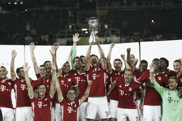 Borussia Dortmund 0-2 Bayern Munich: Vidal, Müller goals seal first Supercup since 2012 for die Roten