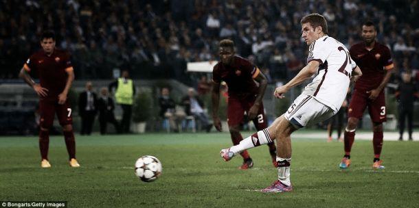 Resultado Bayern de Múnich - Roma en la Champions League 2014 (2-0)