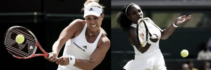Serena Williams 2x0 Angelique Kerber pela final de Wimbledon