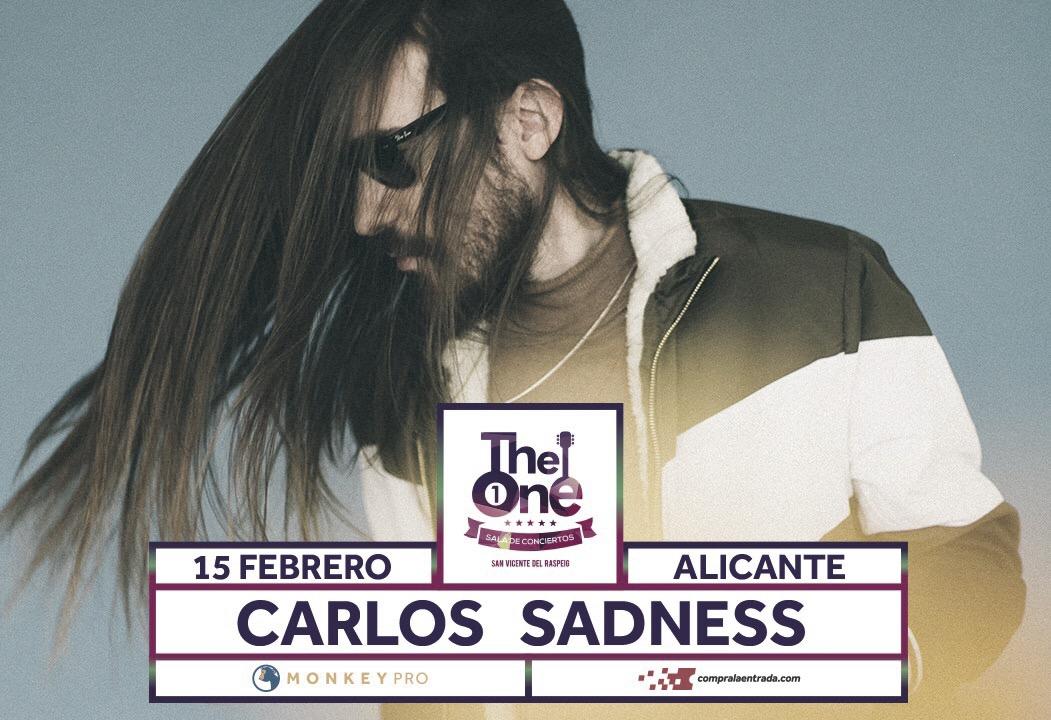 Carlos Sadness prepara su fin de semana Mediterráneo con las actuaciones el viernes en Alicante y sábado en Murcia