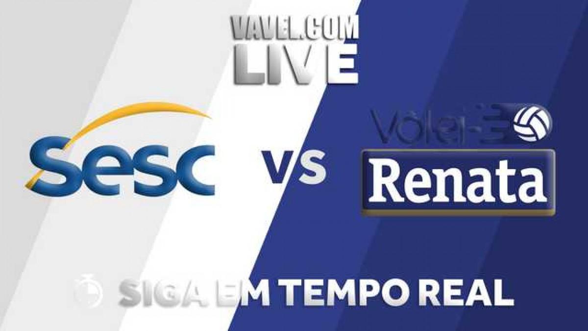 Resultado Sesc-RJ x Vôlei Renata pelos playoffs da Superliga Masculina (3-1)