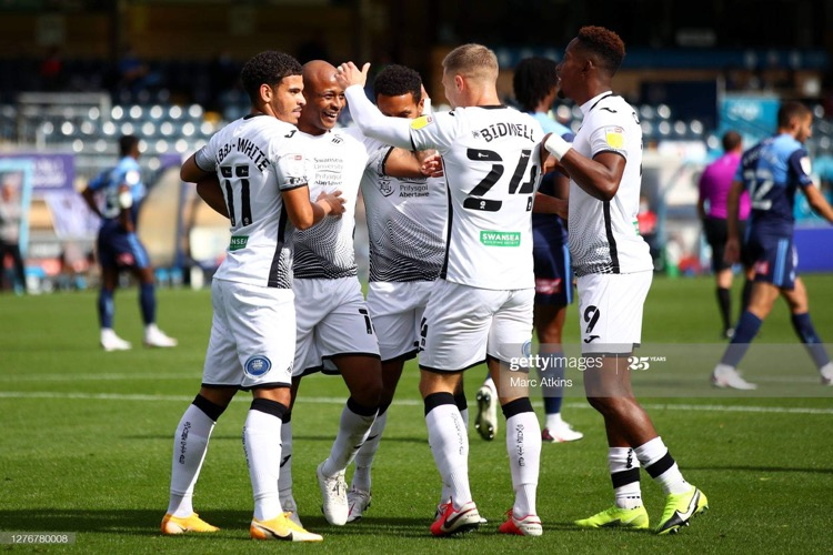 Wycombe Wanderers 0-2 Swansea City: Swans continue unbeaten start