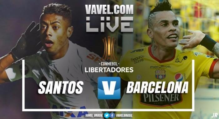 Santos vs Barcelona SC EN VIVO ahora por Copa Libertadores (0-0)