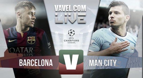 Resultado Barcelona e Manchester City    na Liga dos Campeões (1-0)