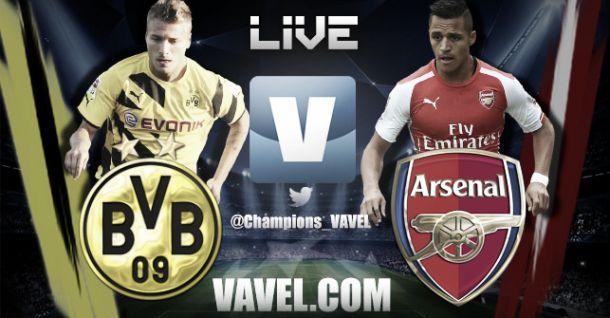 Resultado do jogo Borussia Dortmund x Arsenal  na Uefa Champions League