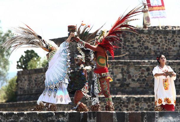 Arde el Fuego Nuevo en Teotihuacán