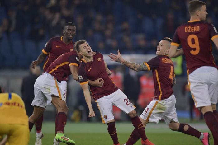 La Roma torna a vincere: Nainggolan, El Sha e Pjanic travolgono il Frosinone (3-1)