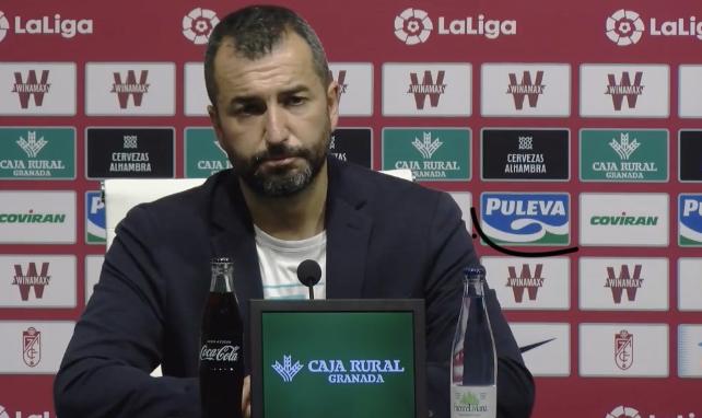 Diego Martinez en la rueda de prensa telemática tras el partido contra el Sevilla FC
