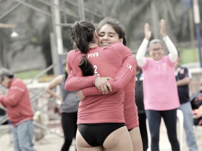 """La """"dupla Serna"""" asombra en el Sudamericano de Vóley Playa"""