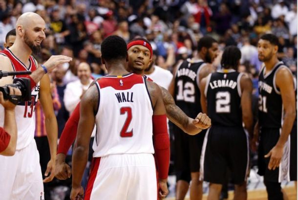 Bradley Beal's Game-Winning Three Pointer Gives Washington Wizards 102-99 Victory Over San Antonio Spurs