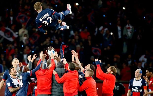 PSG vence o Brest por 3 a 1 na despedida de Beckham do futebol