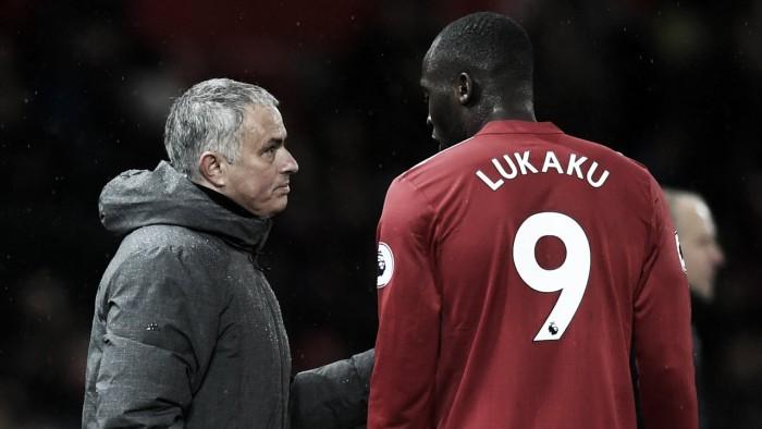 """Mourinho: """"Para mí Romelu está fantástico, no me importa que no marque"""""""