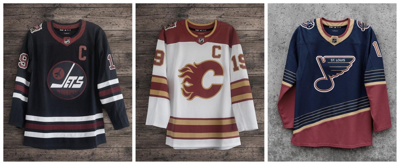 Los Jets, los Flames y los Blues presentan nuevos uniformes