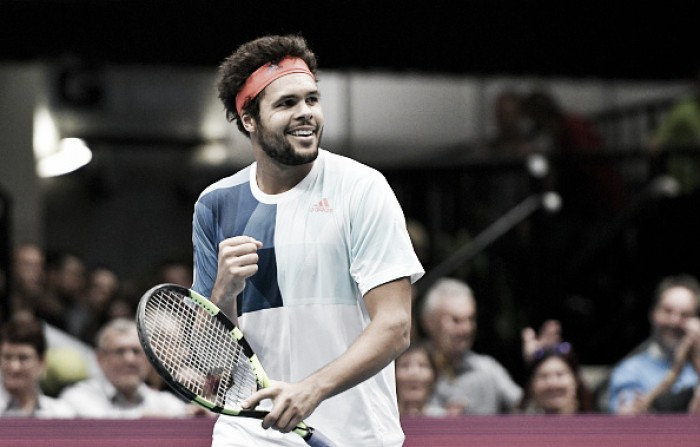 ATP Vienna: Jo-Wilfried Tsonga saves a match point en route to defeating Ivo Karlovic in a third set tiebreaker