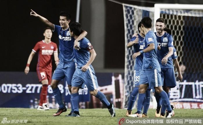 Chineses marcam e time de Zhizhao vence em casa na Liga Chinesa